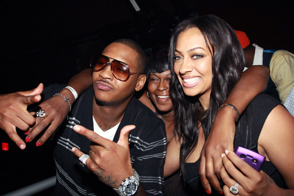 carmelo anthony married. Carmelo Anthony And La La