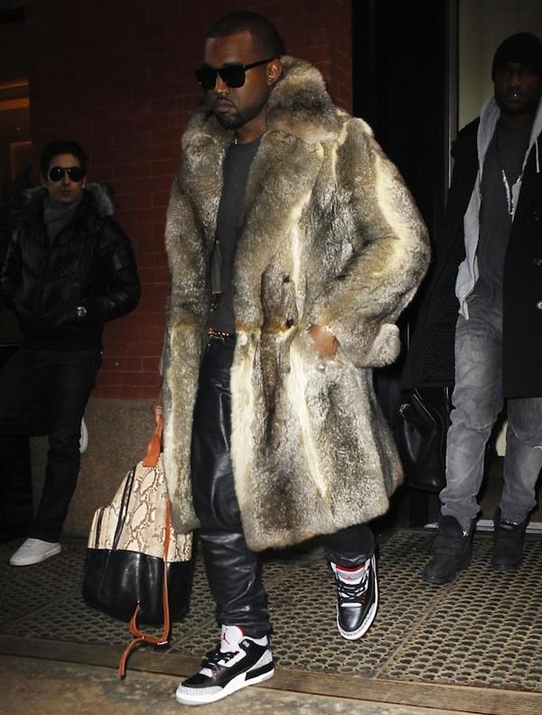 e0678b864c40ab Kanye West   Chris Brown Styling On Them Lames In Air Jordan Retro Sneakers