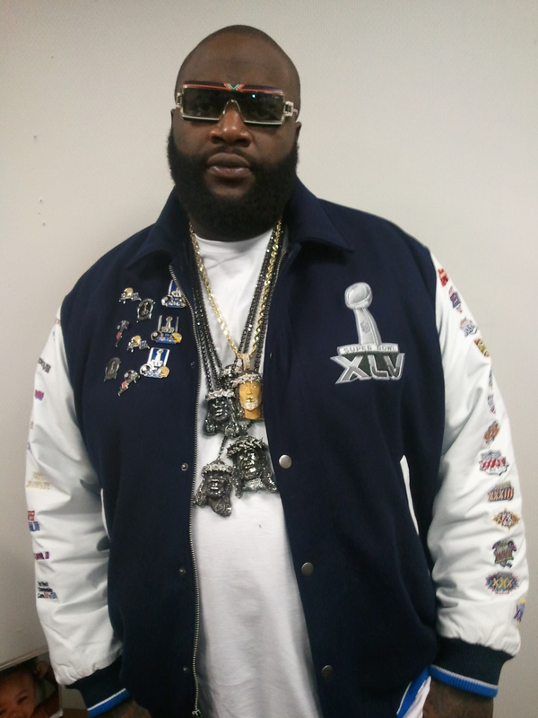 rick ross chain of himself wearing a chain. Miami native Rick Ross was