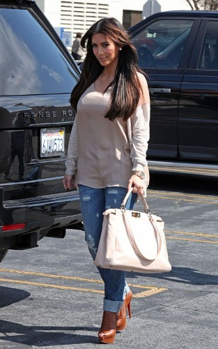 7a8ad348380b Kim Kardashian Styling On Them Hoes In A Pair Of  1