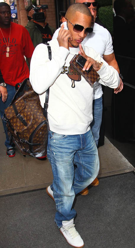 251c81f3ef9 Last year, T.I. was spotted in New York City wearing a $155 BBC Ice Cream  sweatshirt, with a pair of $595 Maison Martin Margiela Line 22 sneakers.