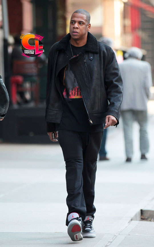 "timeless design d08b0 dc59d Sneaker Me Dope  Jay-Z Rocking A Pair Of Air Jordan 3 ""Black Cement ..."