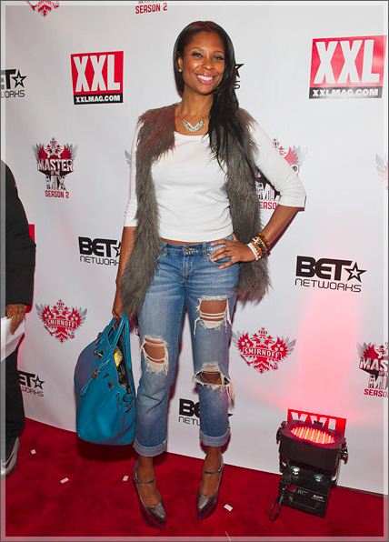 148ed97edbe5 ... at the Premiere of Smirnoff s Master of the Mix DJ show yesterday in  New York City. She was styling on them hoes in a pair of Christian Louboutin  ...