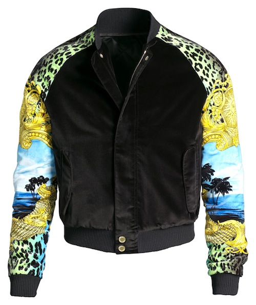 e3f8bbf4a7b0 Styling On Them Lames: Chris Brown Rocking A Versace for H&M Bomber ...