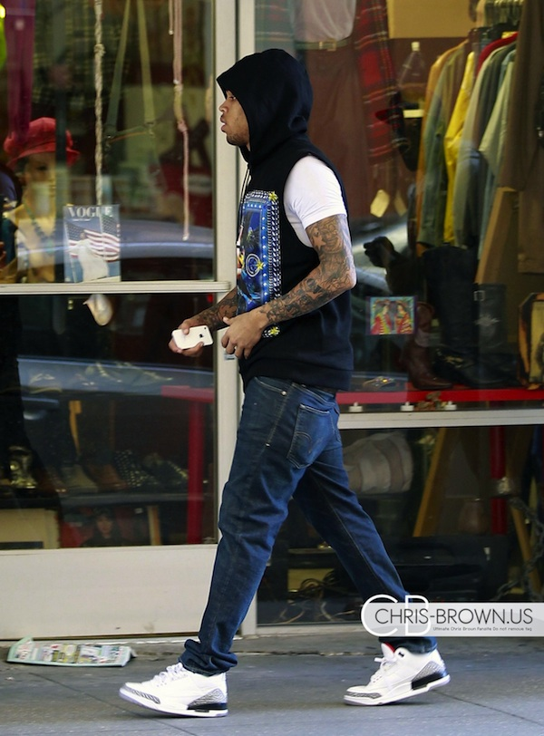 Chris-Brown-Givenchy-Sleeveless-Pin-Up-Girl-Hoodie-Air-Jordan-3-Retro-Sneakers