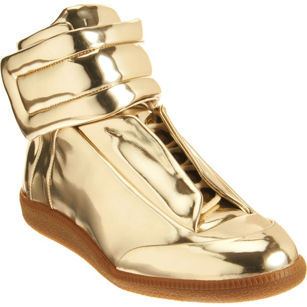 Metallic Gold Sneakers