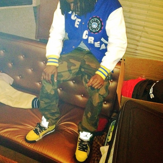 Styling On Them Lames  Wale In An OG BBC Ice Cream Varsity Jacket ... 4fd47ec03