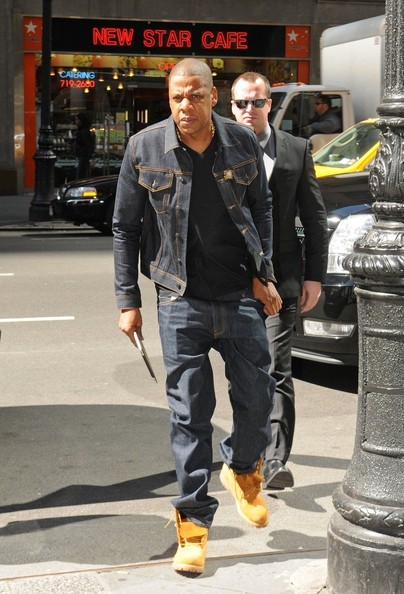 Styling On Them Lames Jay Z In A Blue Denim Outfit