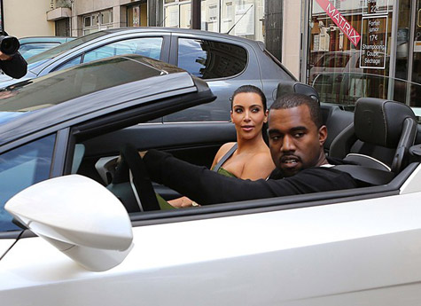 Living The Good Life Kanye West Kim Kardashian Riding Through