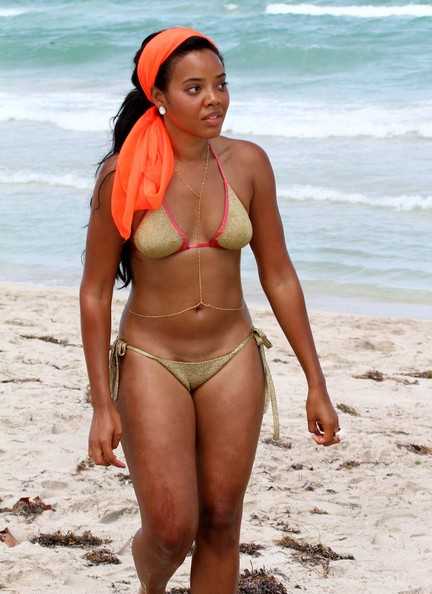 Sexy Beach Body: Angela Simmons Brings Heat To Miami In A Bikini Showing Her ...