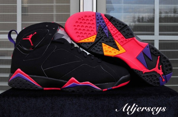 Air-Jordan-7-'BlackTrue-Red-Dark-Charcoal-Club-Purple'-Another-Look-4-600x394