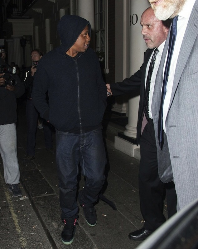 "timeless design 8e674 64fa2 Watch My Sneaker  Jay-Z   Riahnna Wearing Nike Air Yeezy 2 ""Black Solar Red"""