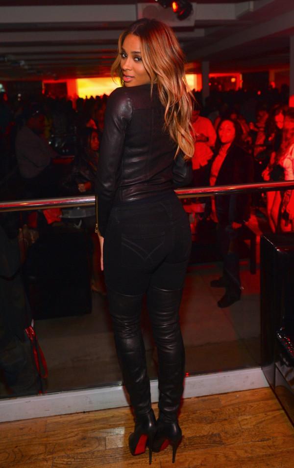 47d27988641 Shoe Fetish! Ciara Partying In $2,495 Christian Louboutin Gazolina ...