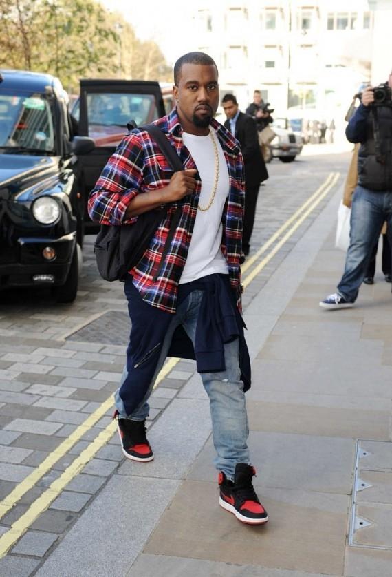 Sneaker Me Dope Kanye West Wears Air Jordan 1 KO u201cBredu201d