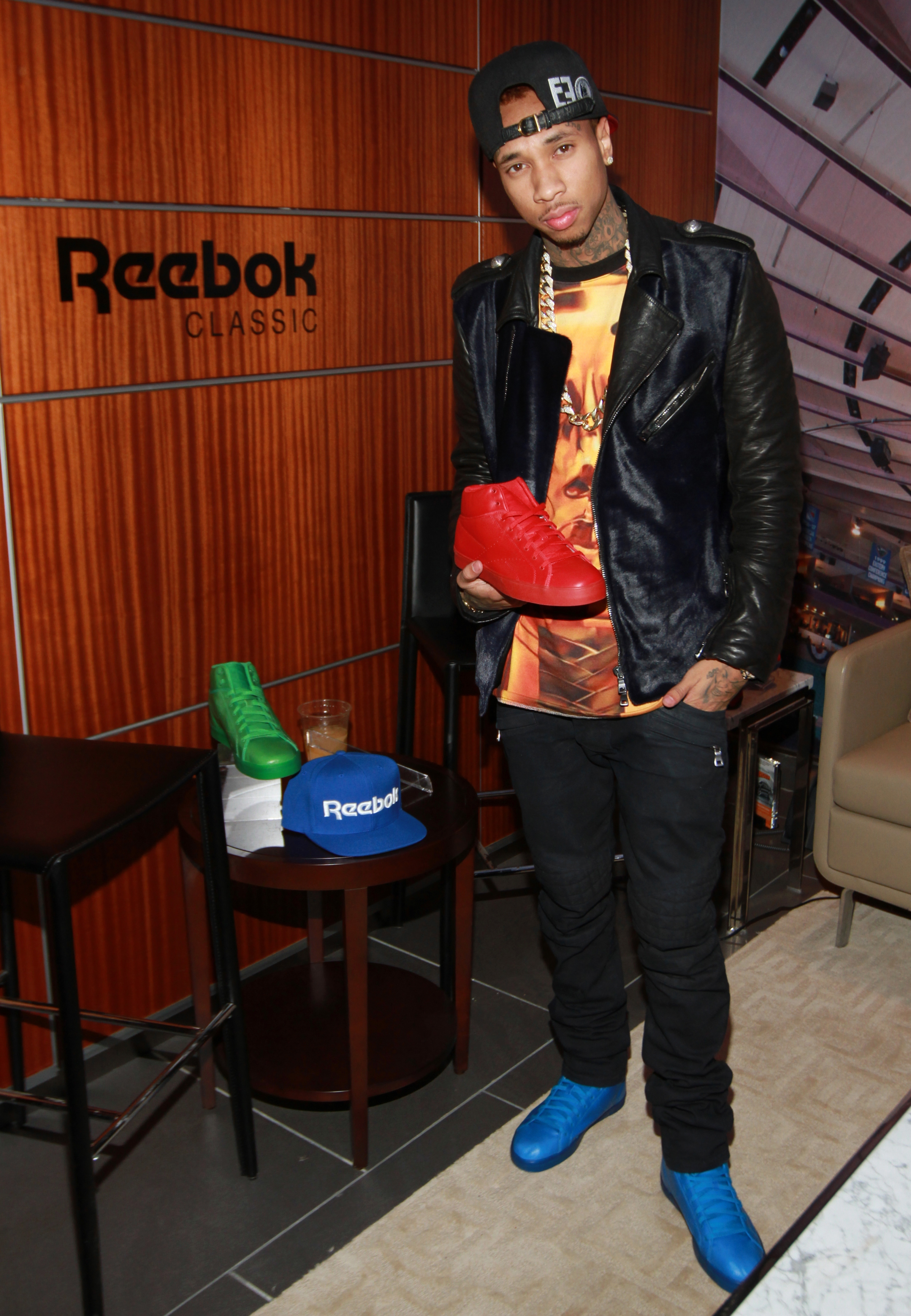 Exclusive Pictures  Tyga s Reebok Classics T-Raww Launch At NYC s MSG  63b622613f