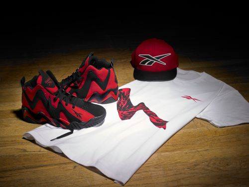 Kamikaze II Mid red-black with teeshirt snapback