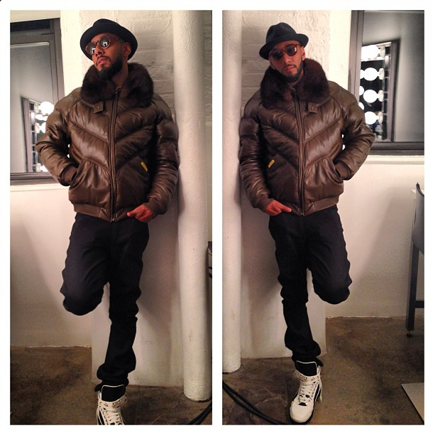 What Is He Wearing? Swizz Beatz Styles In A Double Goose Leather ...
