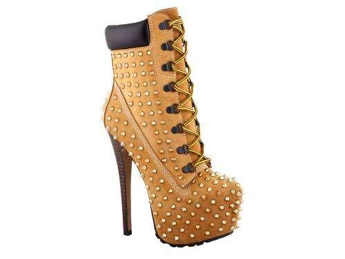 studded timberland heels beyonce