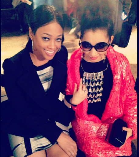 Trina-and-guest-at-Front-Row-NYFW-Show