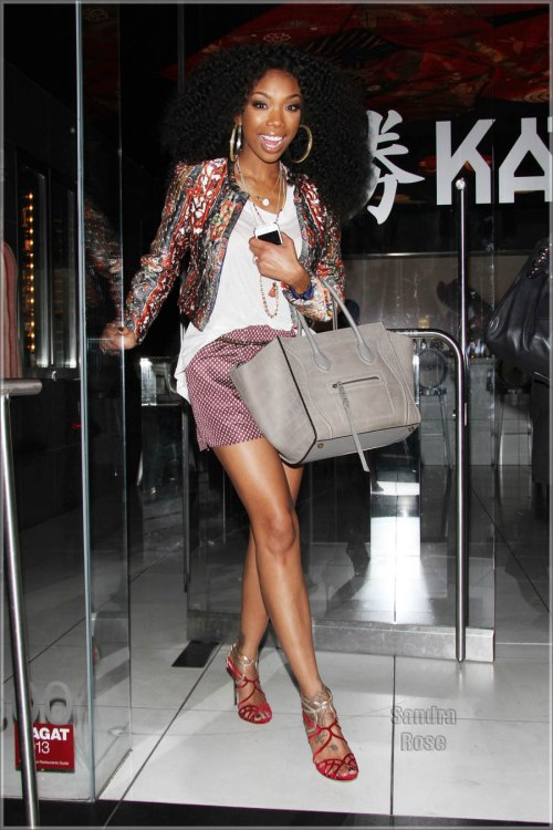 Brandy Norwood leaves dinner at Katsuya in Hollywood
