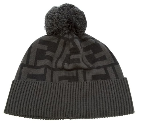 fendi-black-monogram-bobble-hat-beanie