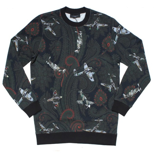 Givenchy-Green-Airplane-Paisley-Print-Sweatshirt