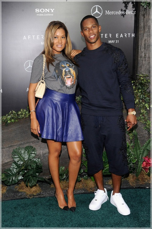 Victor-Cruz-and-girlfriend