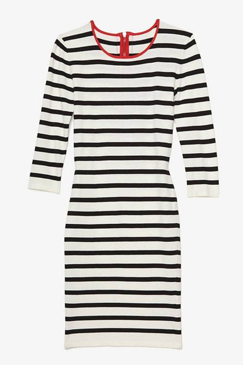 intermix-exclusive-contrast-zipper-striped-dress