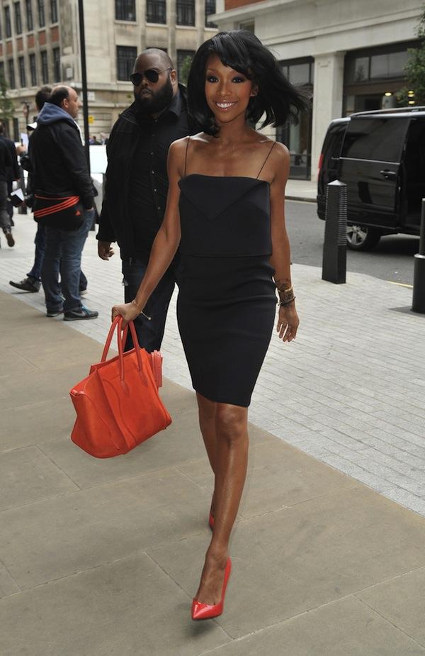 Brandy Carries A C¨¦line Bag \u0026amp; Wears Giuseppe Zanotti Pumps In ...