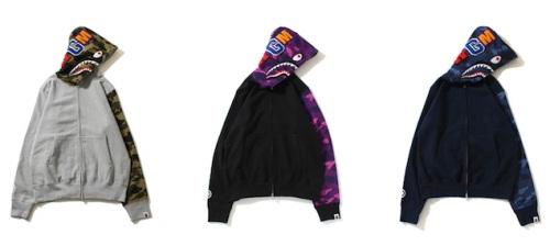 Bape-Shark-Full-Zip-Camo-Sleeve-hoodie-hoody