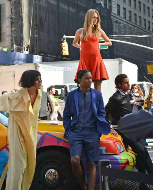 Cara-Delevingne-AAP-Rocky-DKNY-Photo-Shoot-Times-Square