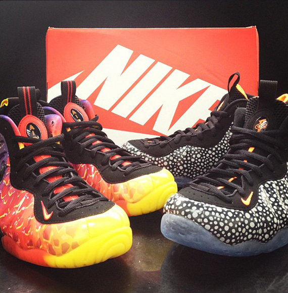 buy popular 96ab2 a42a1 ... clearance nike air foamposite one safari and asteroid sneakers 0faa0  8c535