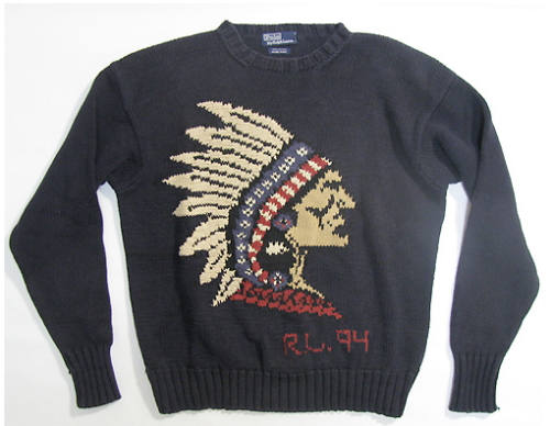 Vintage Ralph Lauren Polo Indian Head 94 Sweater