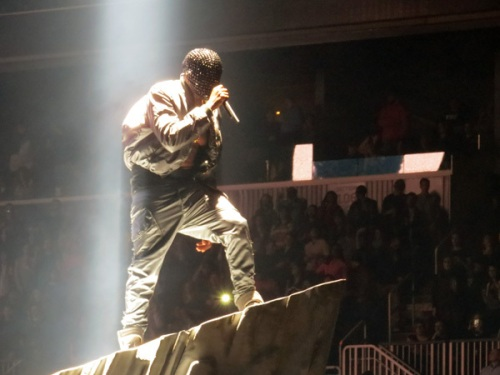 Kanye West Performs at the Barclays Center